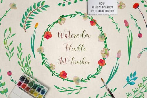 Watercolor Art & Pattern Brushes.jpg